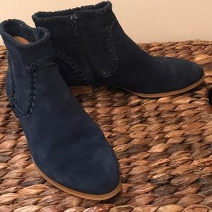"""Jack Rogers """"Gemma"""" Ankle Boots in Navy Blue"""
